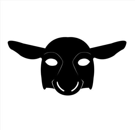 mask logo vector of sheep masquerade in animal character for carnival cosmetic and theater fashion
