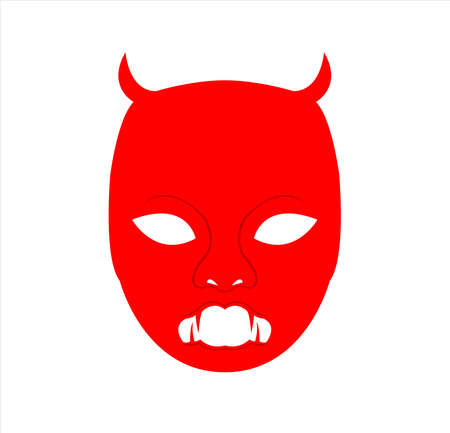 mask logo vector of face masquerade in disguise character for carnival cosmetic and theater fashion