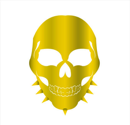 mask logo vector of skull masquerade in disguise character for carnival demon and theater fashion Archivio Fotografico - 123163794