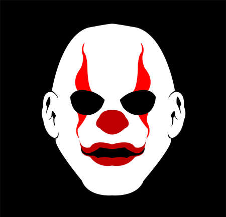 mask logo vector of clown masquerade in disguise character for carnival joker and theater fashion