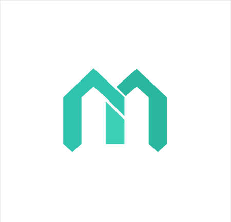 modern minimal vector logo for business of technology, network, residence, marketing, real estate, university and medical company Archivio Fotografico - 123163801