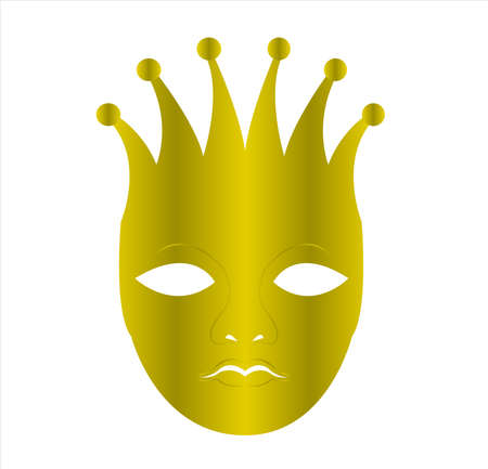 mask logo vector of face masquerade in disguise character for carnival cosmetic and theater fashion Archivio Fotografico - 123163804