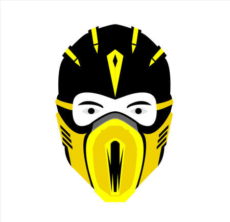 ninja logo vector with mask art of samurai character and silhouette Archivio Fotografico - 123163811