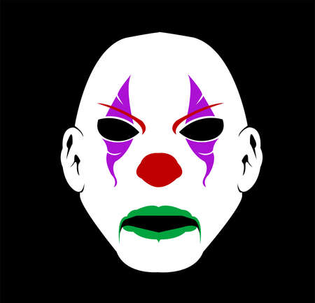 mask logo vector of clown masquerade in disguise character for carnival joker and theater fashion Archivio Fotografico - 123163824
