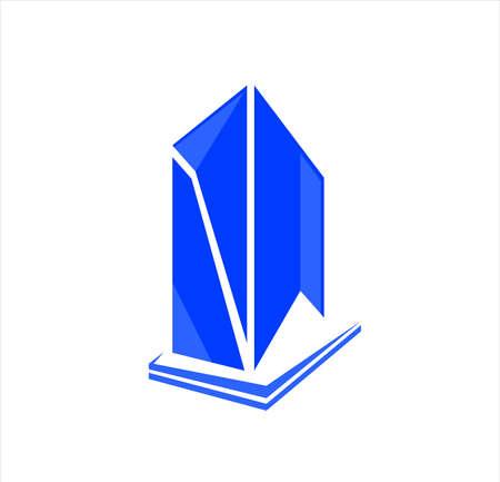 building city vector with skyscraper logo for business company of apartment and landmark Archivio Fotografico - 123163844