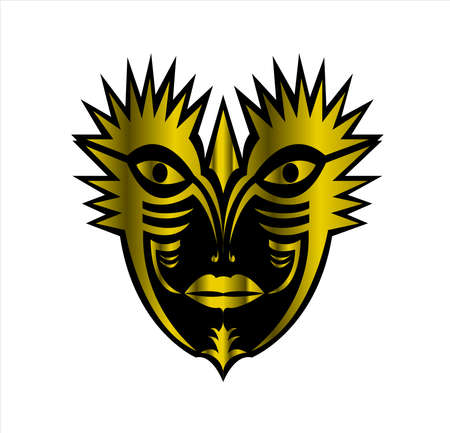 mask logo vector of face masquerade in animal character for carnival cosmetic and theater fashion
