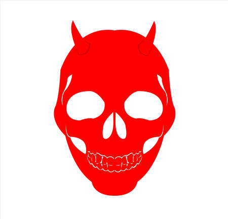 mask logo vector of skull masquerade in disguise character for carnival demon and theater fashion Archivio Fotografico - 123163853