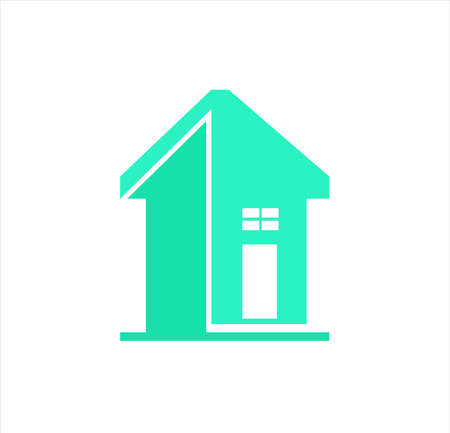 house logo with property vector of building cottage and architecture estate for business Vettoriali