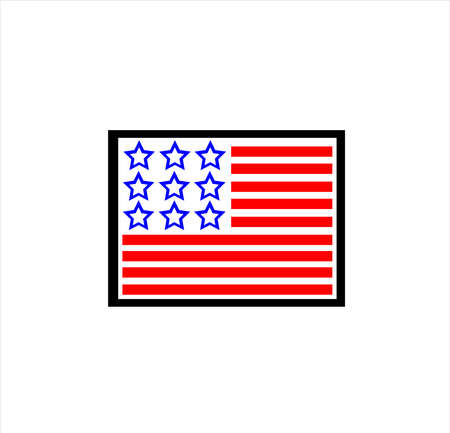 national patriotic flag of memorial day of america with freedom honor and military hero of country