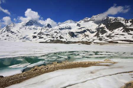 Old Glacier Ice in the alps photo