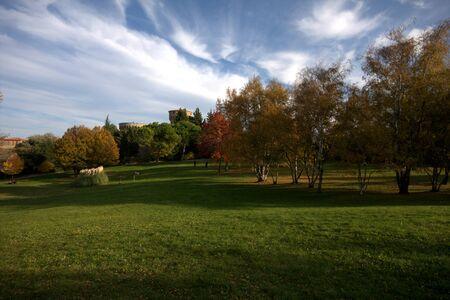 volterra: Photo of the Castle of Volterra in autumn