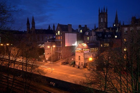 Aberdeen by night in Scotland