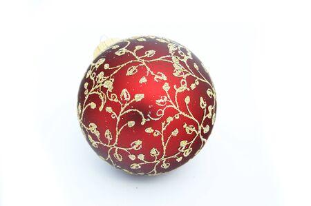 A christmas red ball Stock Photo