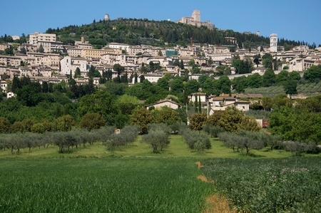 A view of Assisi in Umbria