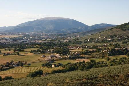 Subasio Mountain in the umbria region