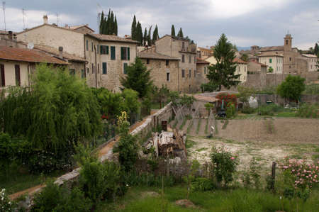 bevagna: A view of Bevagna in Umbria Stock Photo