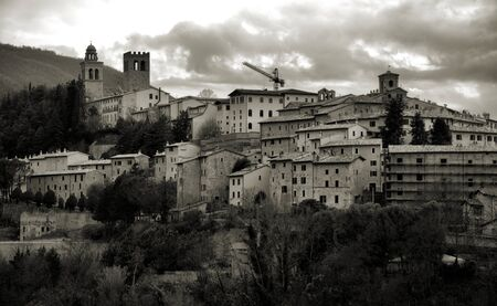 Nocera Umbra is a small village of mountain Stock Photo