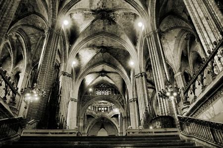 The interior of European church