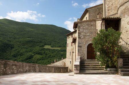 A view of Vallo di Nera village in Umbria