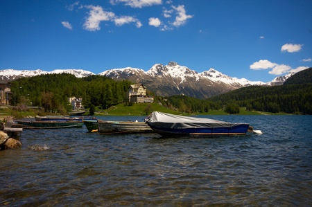 The beautiful alps lake Editorial