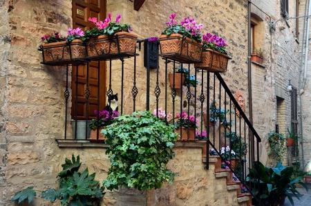 spello: A beautiful alley in Spello, Umbria. Stock Photo