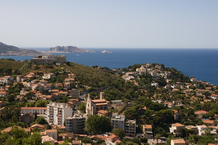 Panorama of Marseilles, France