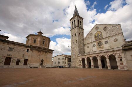 The cathedral of Spoleto, Umbria Zdjęcie Seryjne - 12064677