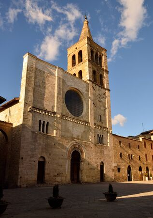 bevagna: The cathedral of Bevagna Stock Photo