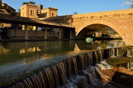 bevagna: The little waterfall of Bevagna Stock Photo