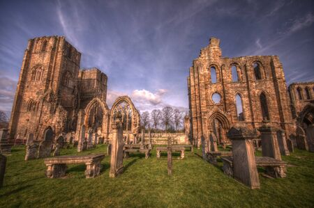 Elgin Cathedral in HDR Stock Photo