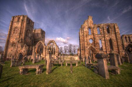 Elgin Cathedral in HDR Zdjęcie Seryjne