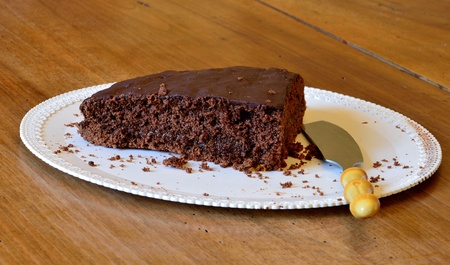 torte: Famous austrian chocolate cake called sacher torte. Stock Photo