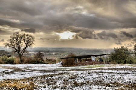 Winter time in the country photo
