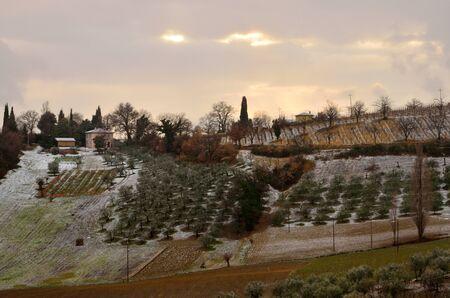 Hills landscape in Umbria photo