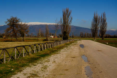 Image of country landscape in Umbria photo
