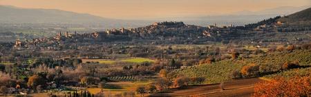 spello: Panoramic view of Spello Stock Photo