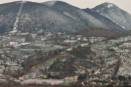 Umbria with the snow photo