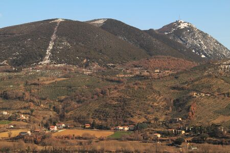 Mountain landscape near Foligno, Umbria photo