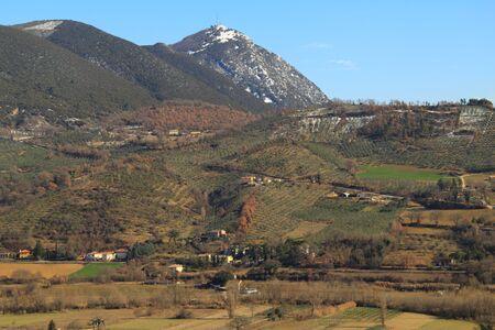 Umbria hills in Italy photo