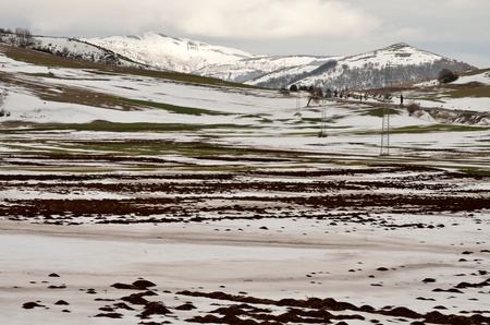 Winter landscape in Umbria photo