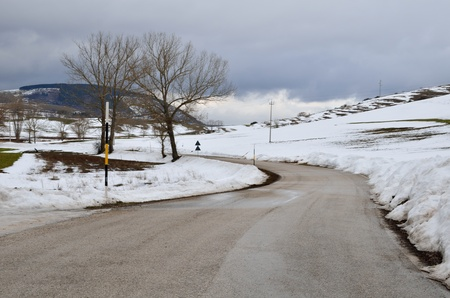 Road on the snow photo