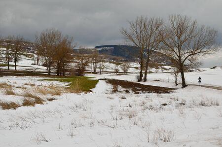 Winter scene in Italy photo