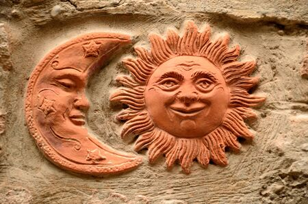 Moon and sun decorations