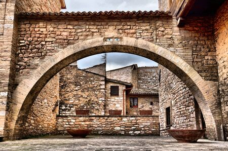 Ancient arch in Spello photo