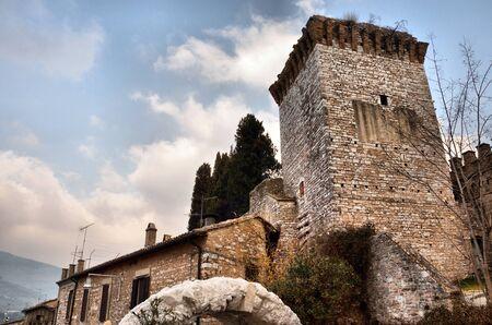 spello: Ancient fortress of Albornoz in Spello Editorial