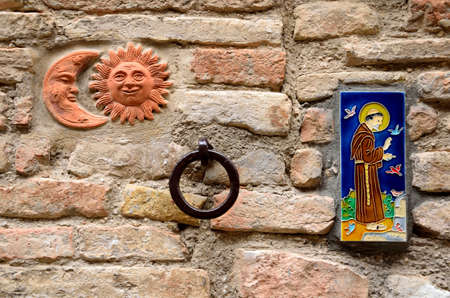 House decorations in Spello