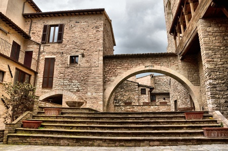 Spello is a medieval village in umbria photo
