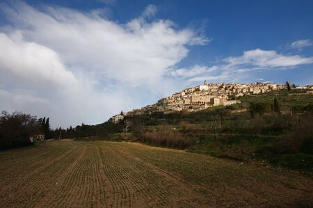 A view of Trevi in Umbria