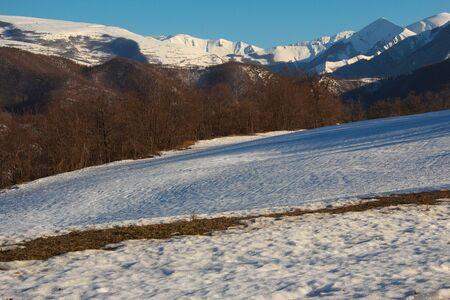 Sibillini park with the snow photo