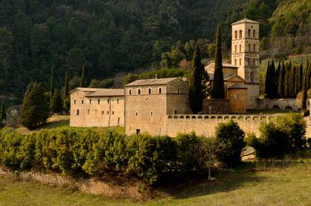Old abbay in Valnerina, Umbria